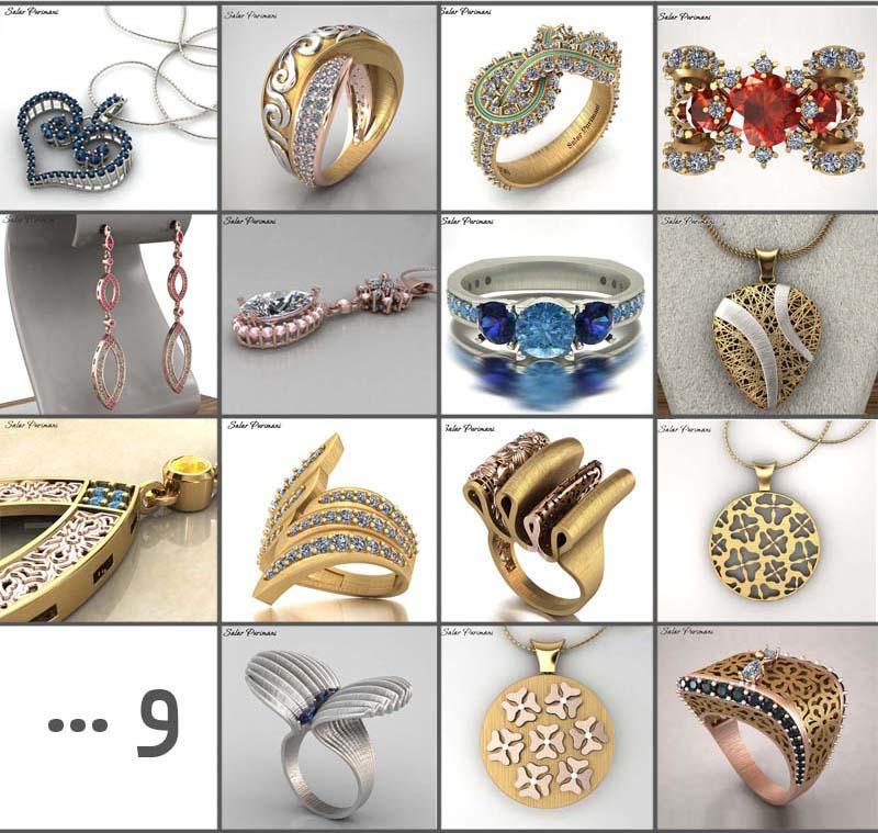 طراحی طلا و جواهر