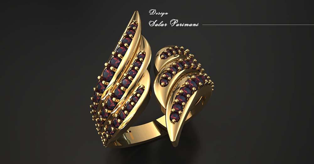 آموزش طراحی انگشتر جواهر