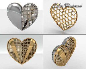 آویز توری قلب در طرح های مختلف