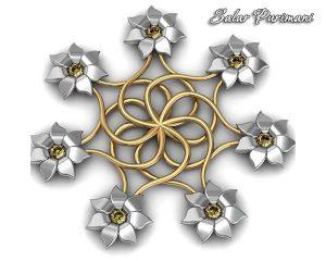 آویز گل جواهر