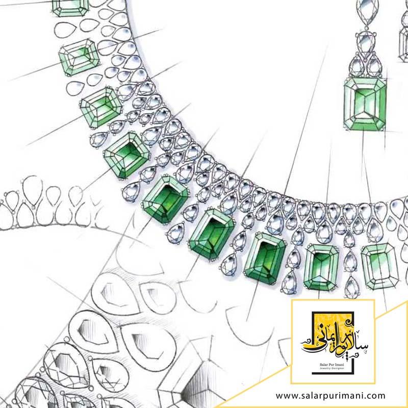 آموزش طراحی دستی جواهرات