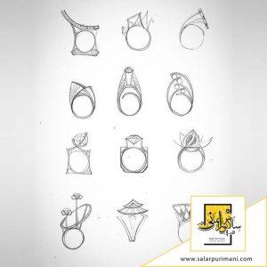 آموزش طراحی جواهرات با مداد