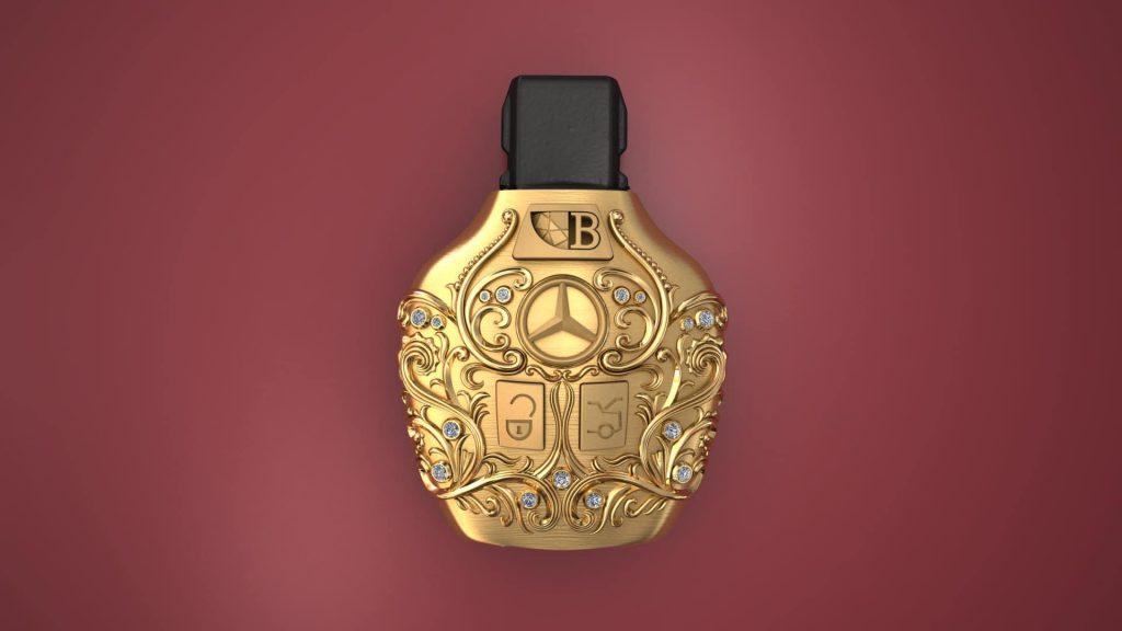 کاور ریموت طلا - دوک - بنز - BOGINI
