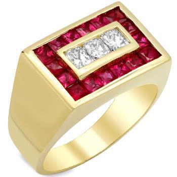انگشتر طلا با یاقوت قرمز