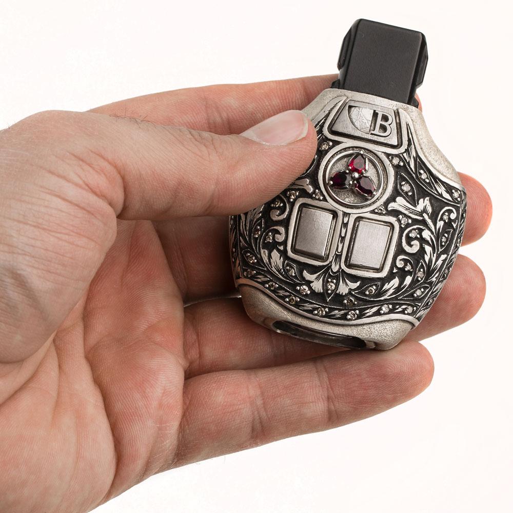 کاور ریموت بگینی مدل دوک قلمزنی دست با الماس