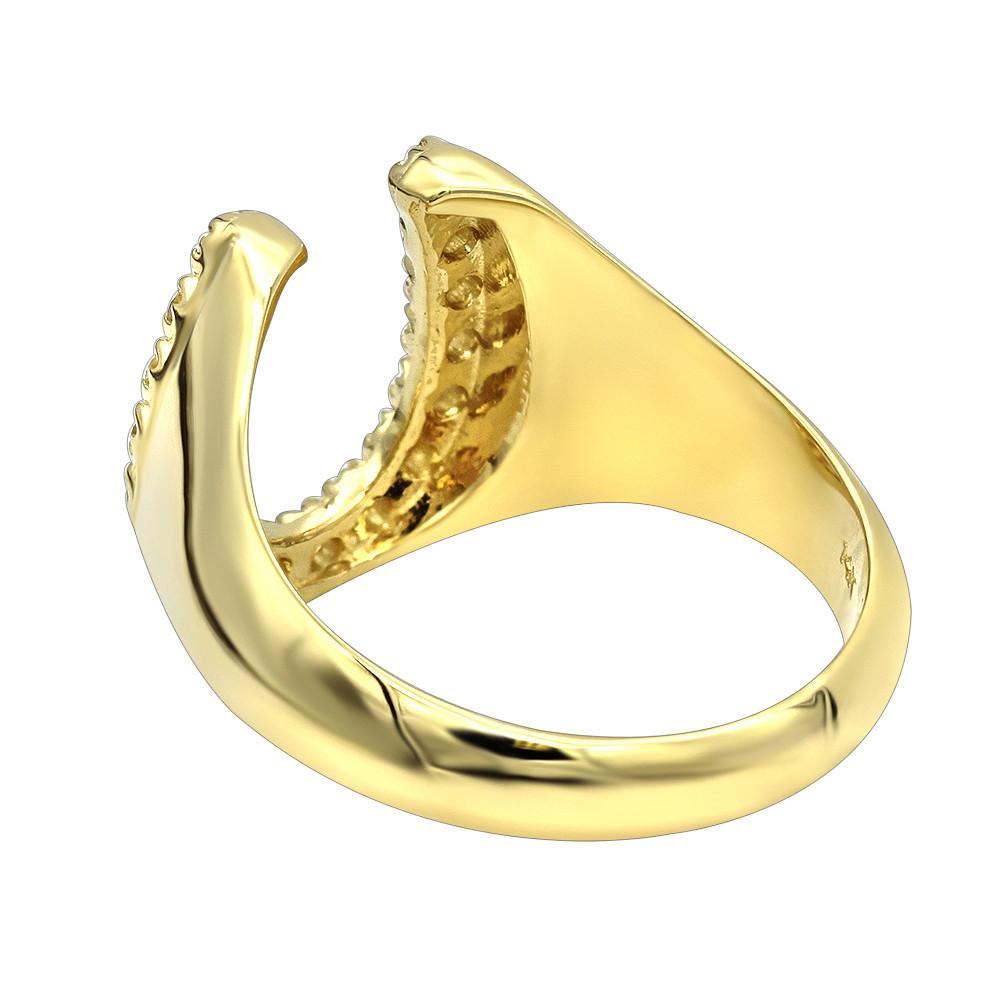 انگشتر طلا مردانه مدل نعل اسب ساده