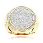 انگشتر طلا مردانه مدل آلما با سنگ الماس
