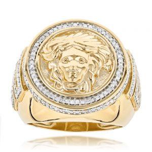 انگشتر طلا مدل ورساچه با سنگ الماس