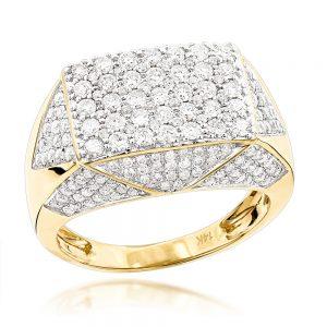 انگشتر طلا مردانه مدل آدریان با سنگ الماس