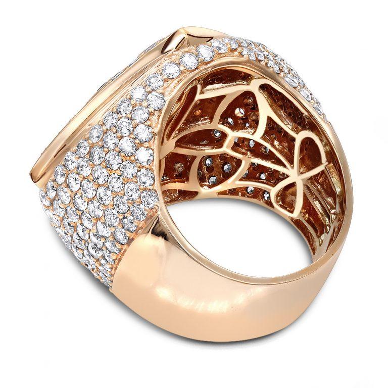 انگشتر جواهر مدل ملکان با سنگ الماس