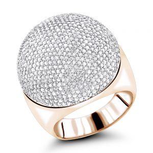 انگشتر طلای مردانه مدل گنبد با سنگ الماس