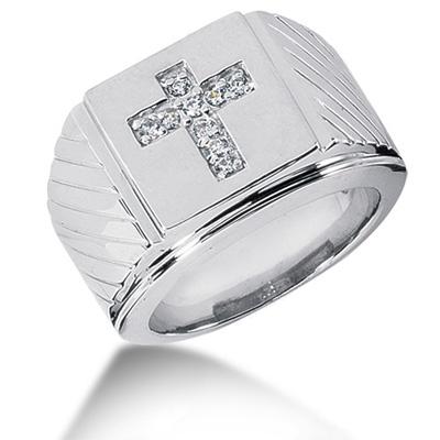 انگشتر طلا مردانه مدل صلیب