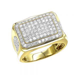 انگشتر جواهر مردانه مدل توران با الماس