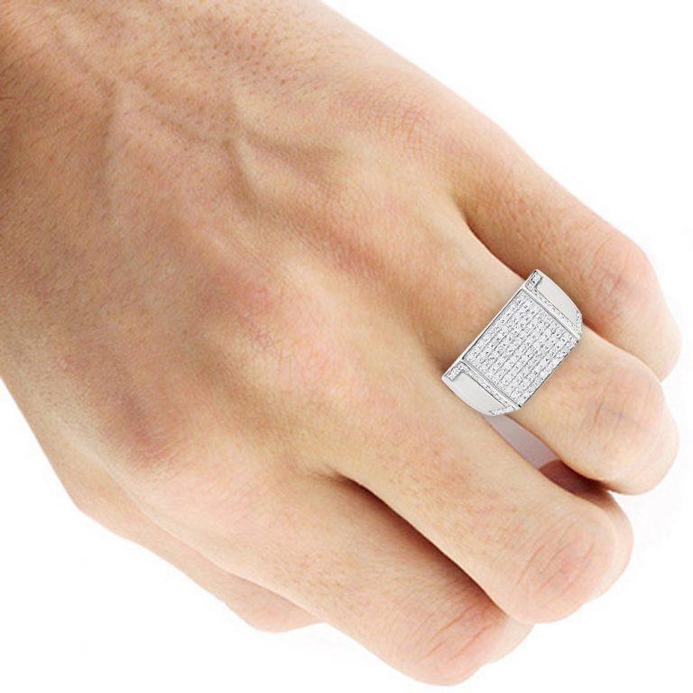 انگشتر جواهر مردانه مدل اهورا
