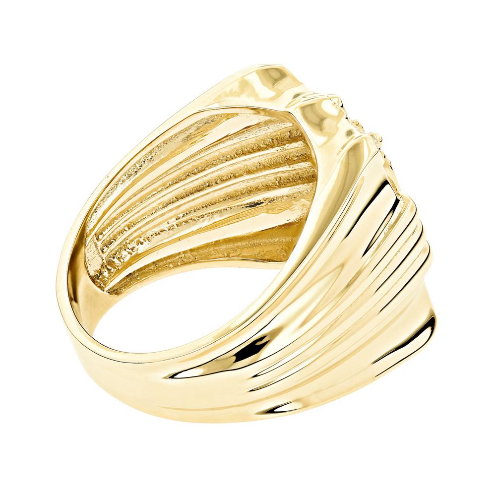 انگشتر طلای مردانه مدل عیسی مسیح با سنگ الماس