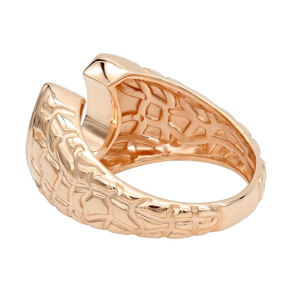 انگشتر طلای مردانه نعل شانس با سنگ الماس