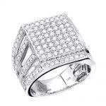 انگشتر طلای مردانه مدل آراس با سنگ الماس
