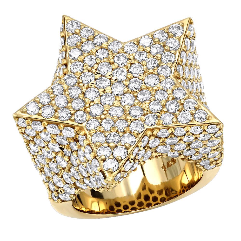 انگشتر طلا مردانه مدل ستاره هایوود