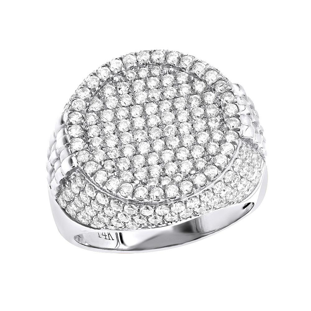 انگشتر طلای مردانه مدل ویسپرد با سنگ الماس
