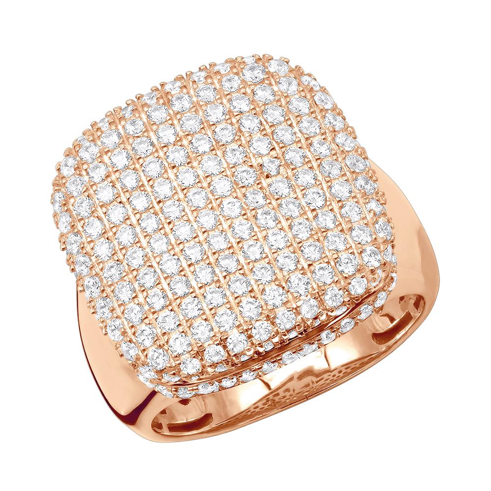 انگشتر جواهر مردانه با سنگ الماس مدل بالن