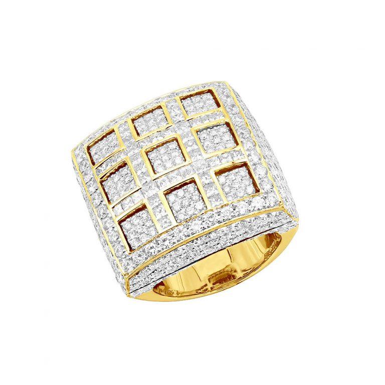 انگشتر طلا مردانه مدل نیکور با سنگ جواهر