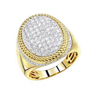 انگشتر طلای مردانه مدل اکسیر با سنگ الماس