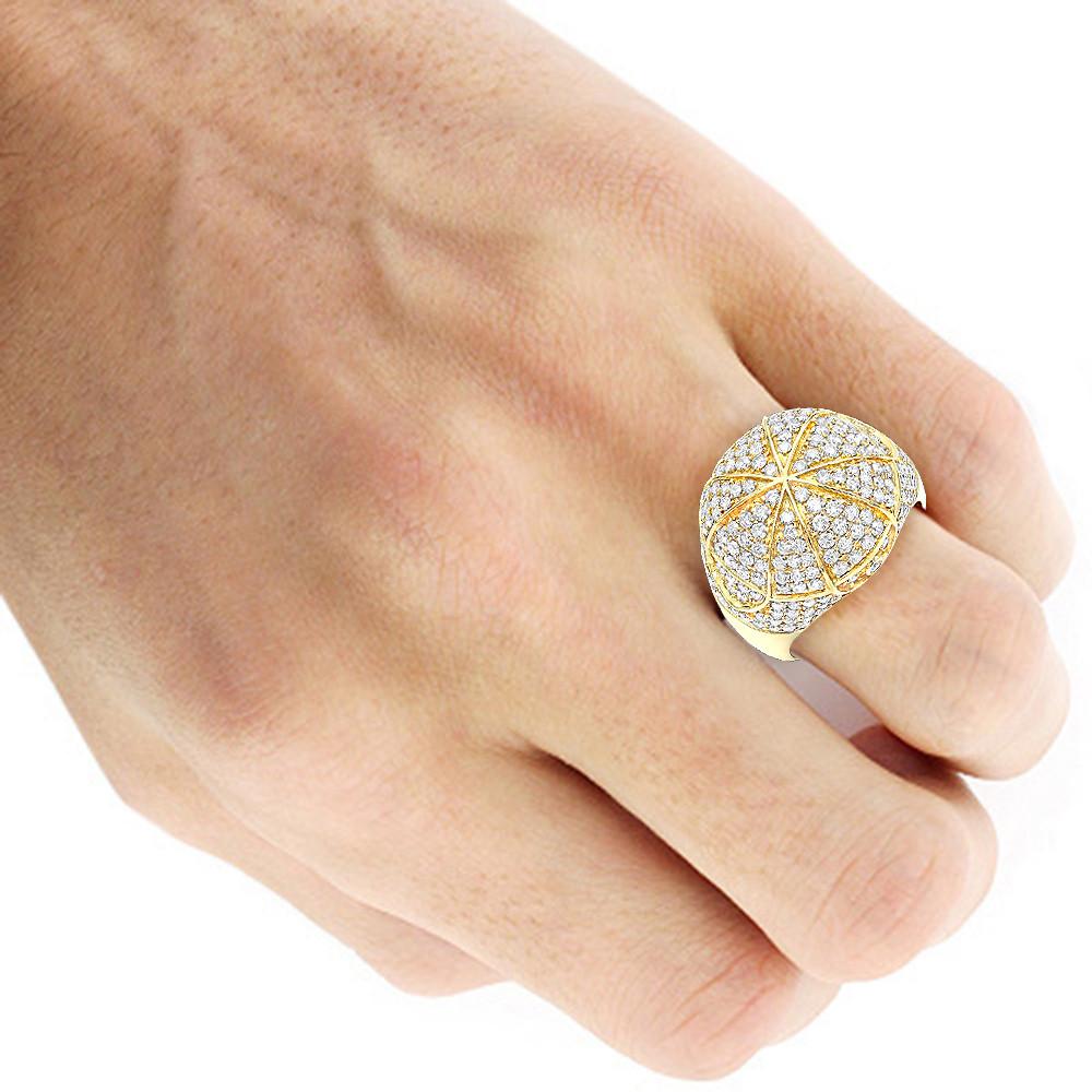انگشتر جواهر مردانه مدل آرمانی با سنگ الماس