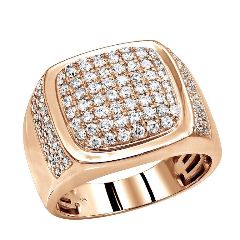 انگشتر طلای مردانه مدل دنیس با سنگ الماس