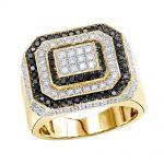 انگشتر طلا مردانه مدل ژوپین با سنگ الماس