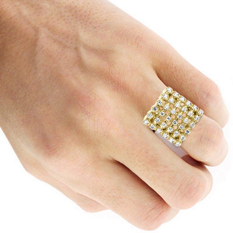 انگشتر جواهر مردانه مدل آتش