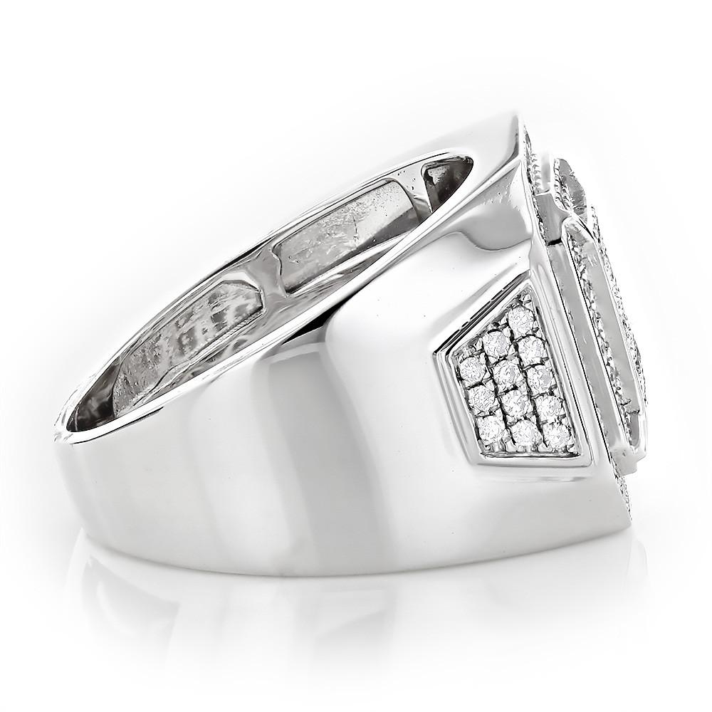 انگشتر جواهر مردانه مدل رومانی با سنگ الماس