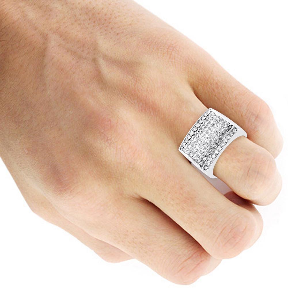 انگشتر طلا مردانه مدل جمی با سنگ الماس