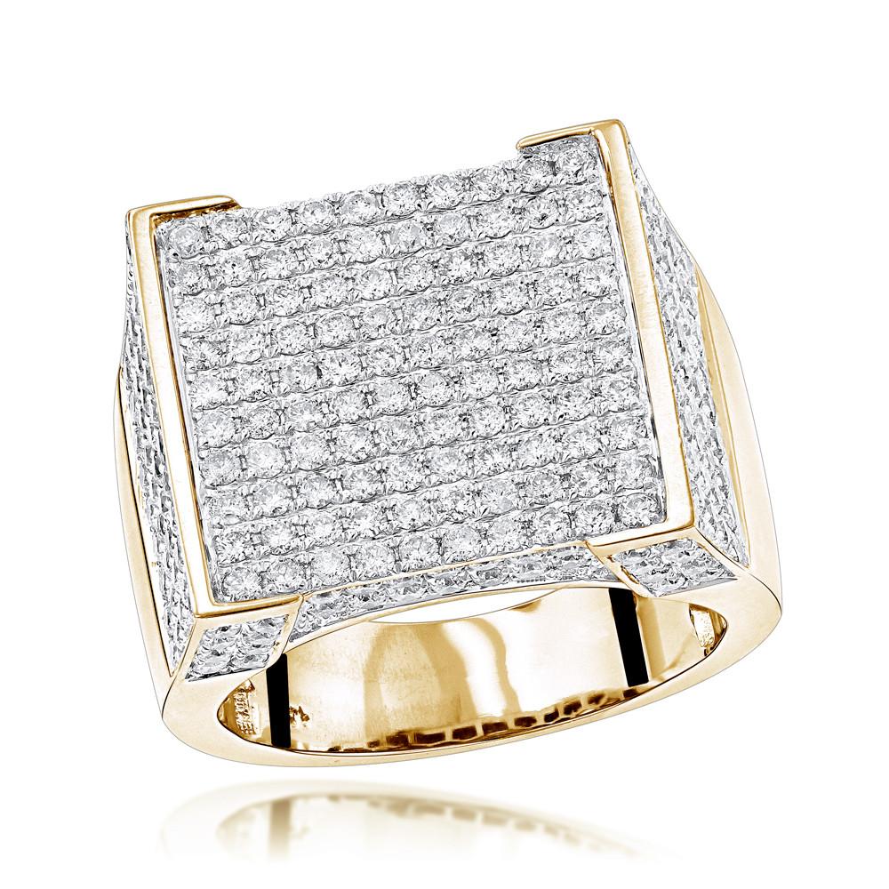 انگشتر طلا مردانه مدل آرون با سنگ الماس