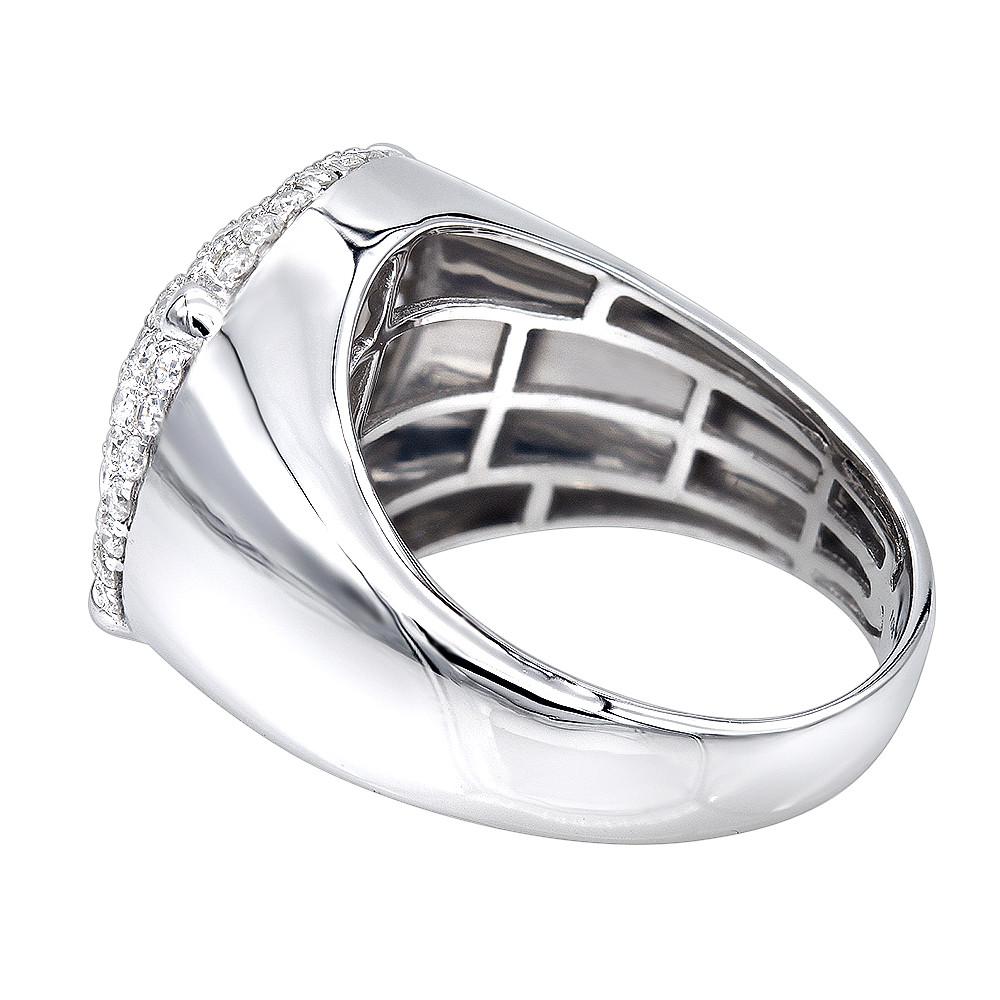 انگشتر طلا مردانه مدل میلان با سنگ الماس