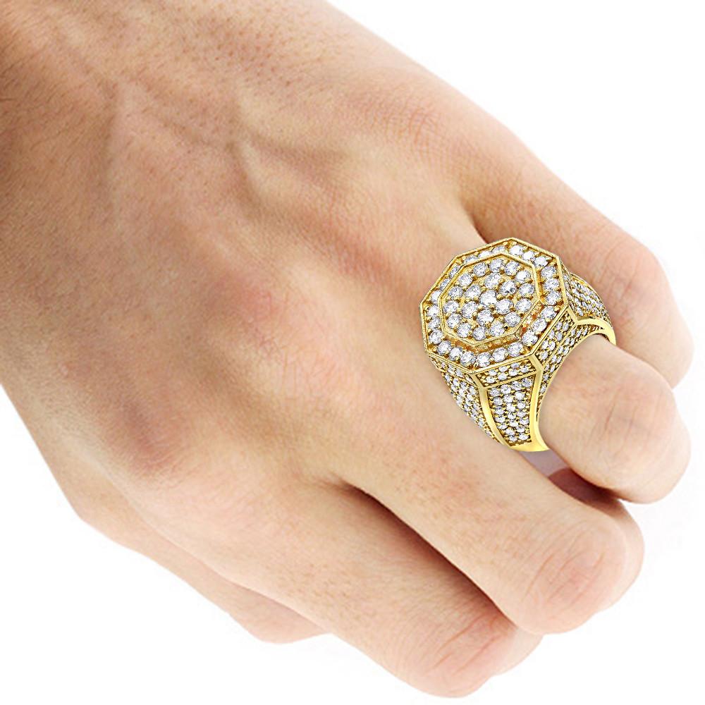 انگشتر طلای مردانه مدل ورسام با سنگ الماس