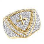 انگشتر جواهر مردانه مدل مارافام با سنگ الماس