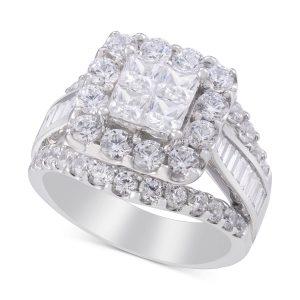 انگشتر جواهر زنانه مدل آرمیتیس با سنگ الماس