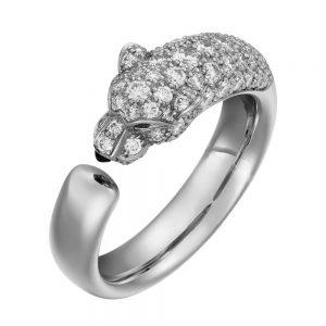 انگشتر طلا کارتیه ببر با سنگ الماس - N4765900