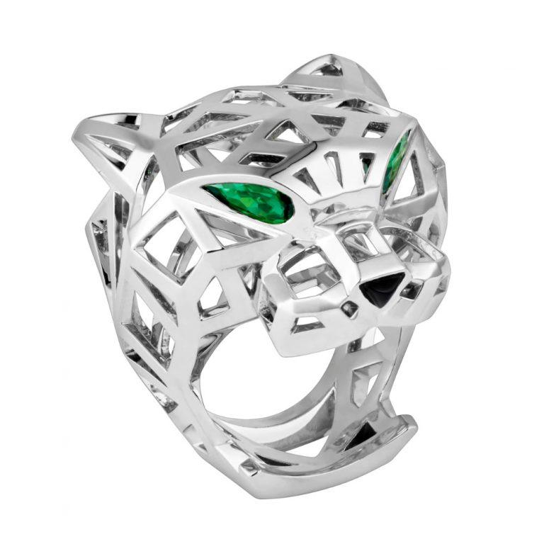 انگشتر طلا کارتیه ببر با سنگ الماس – N4730900