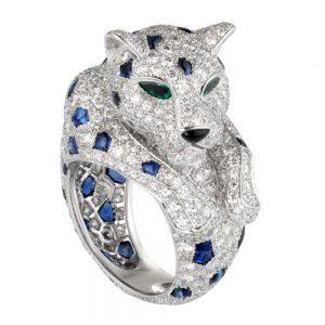 انگشتر طلا کارتیه ببر با سنگ الماس - H4078300