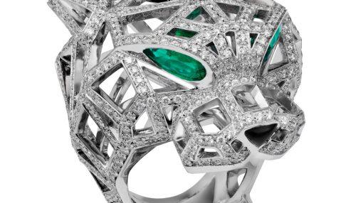 انگشتر طلا کارتیه ببر با سنگ الماس - N4722400