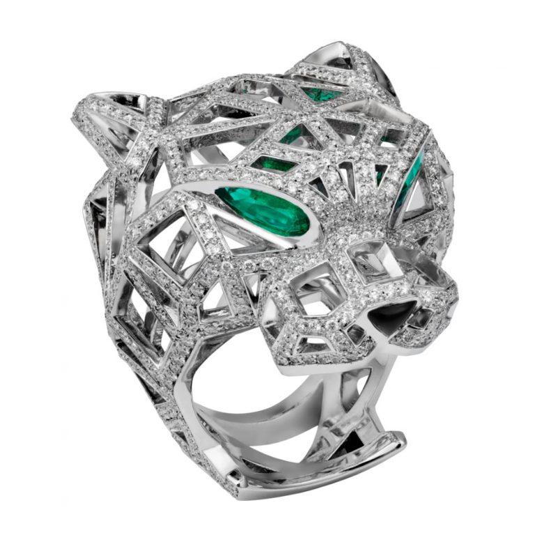 انگشتر طلا کارتیه ببر با سنگ الماس – N4722400