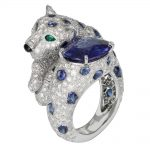 انگشتر طلا کارتیه ببر با سنگ الماس - H4162500