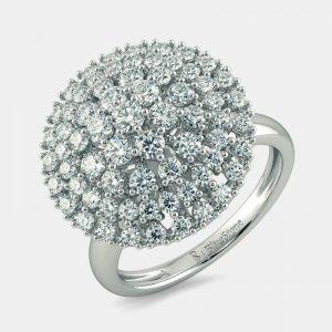 انگشتر طلا زنانه مدل لافا با سنگ الماس
