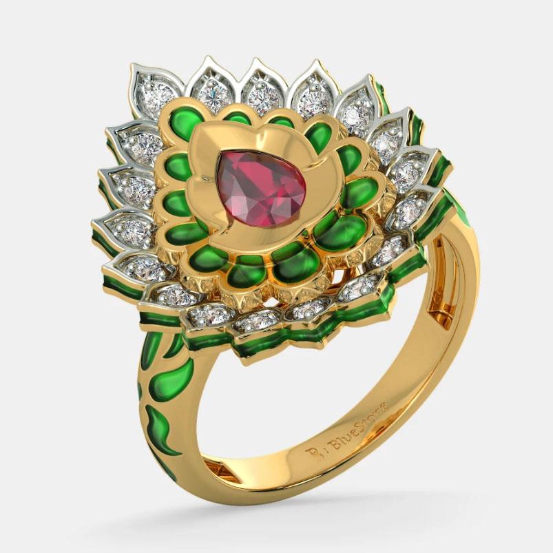 انگشتر طلا زنانه مدل گرونیت