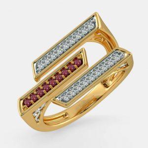 انگشتر طلا زنانه مدل رونیز