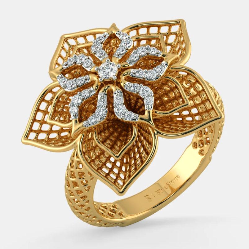 انگشتر طلا زنانه مدل آلبین