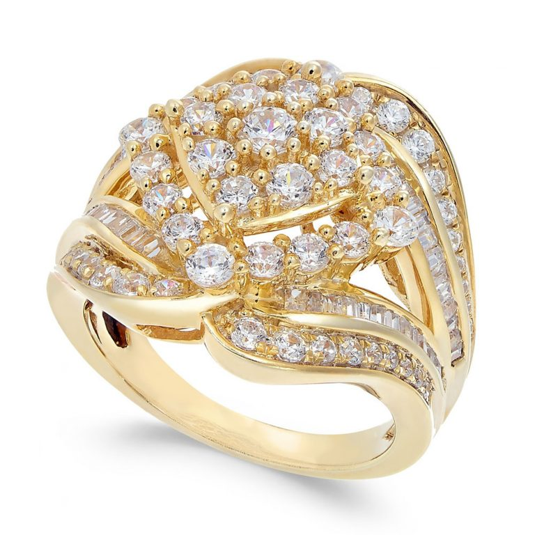 انگشتر طلای زنانه مدل زاما