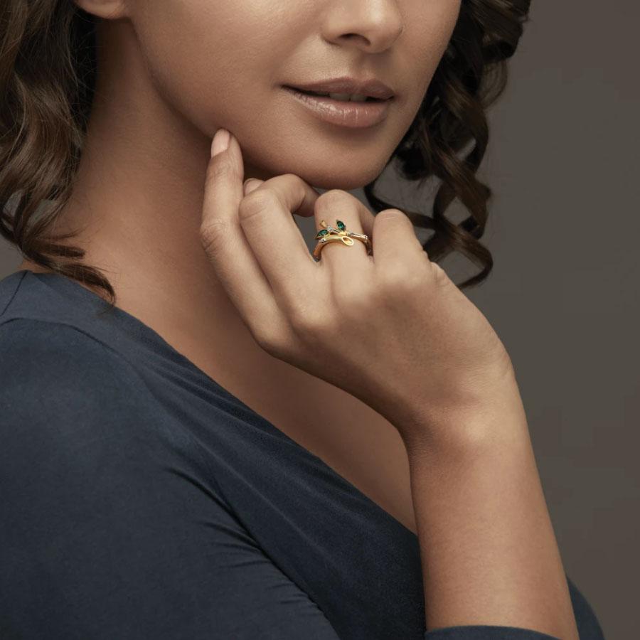 انگشتر طلا زنانه مدل لومیو