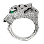 انگشتر طلا کارتیه ببر با سنگ الماس - N4211000